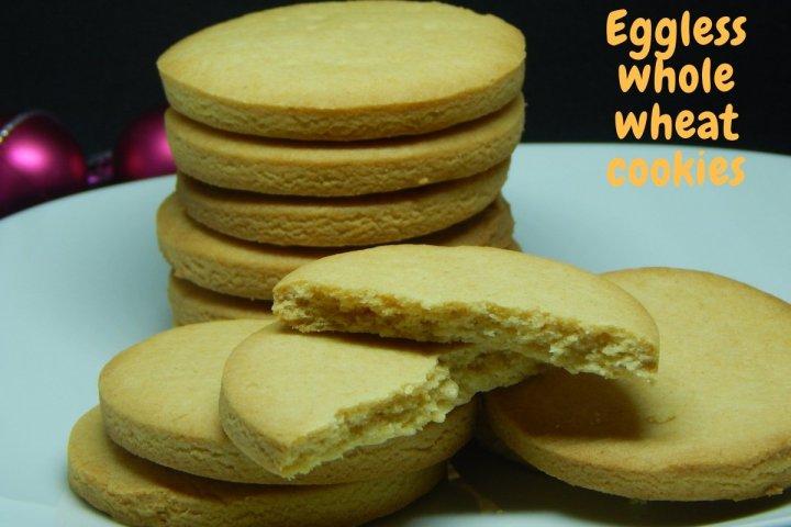 Eggless Whole wheat Cookies