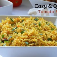 Easy and Quick Tomato Rice Recipe