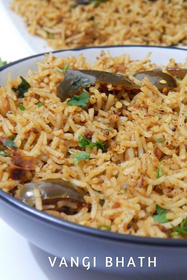 Vangi Bhath Recipe