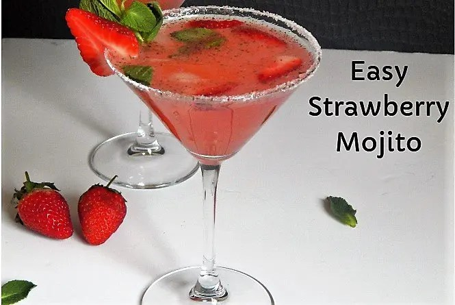 Easy Strawberry Mojito Recipe | Strawberry Mojito