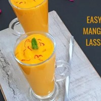 Easy Mango Lassi Recipe | Indian Mango Yogurt Smoothie