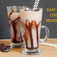 Easy Oreo Cookie Milkshake | Oreo Milkshake
