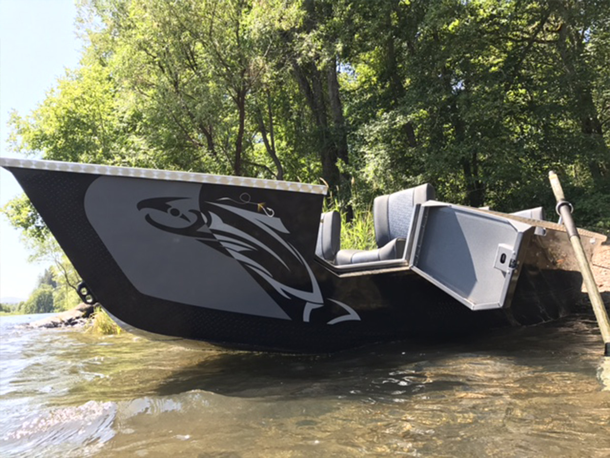 2017 Pavati Marine Guardian Drift Boat - Gray & Black 17x61