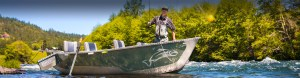 Pavati Drift Boat fly fishing at camera