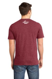 Clothing and Accessories by Pavati Marine - Red Male T-Shirt with Fish Logo - Back