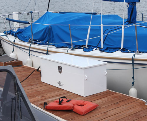 The New Pavati Marine Dock Box! Store Your Commonly Used Boating Equipment  Safe On The