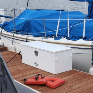The new Pavati Marine Dock Box! Store your commonly used boating equipment safe on the docks