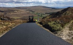 Sumitomo HA60,6m screed asphalt paver, resurfacing part of the Wild Atlantic Way