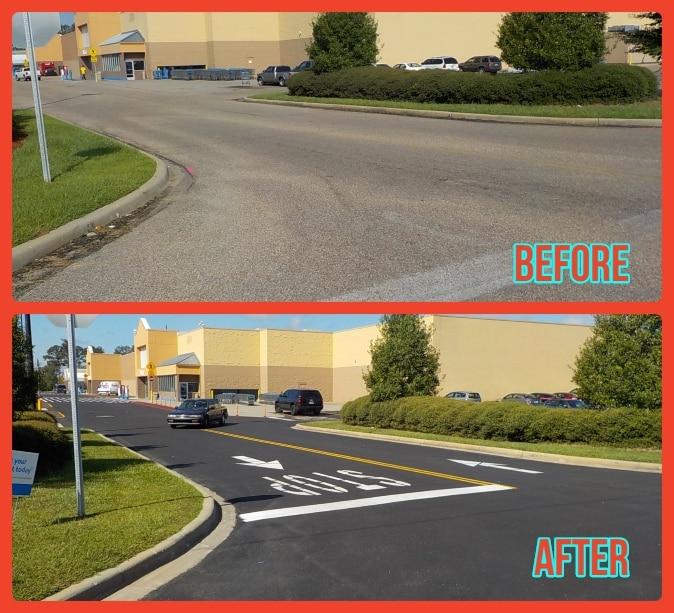 Paving Repair Walmart Columbus, MS