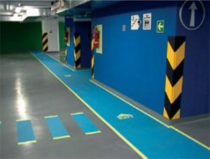 Pintado paredes garaje parkin