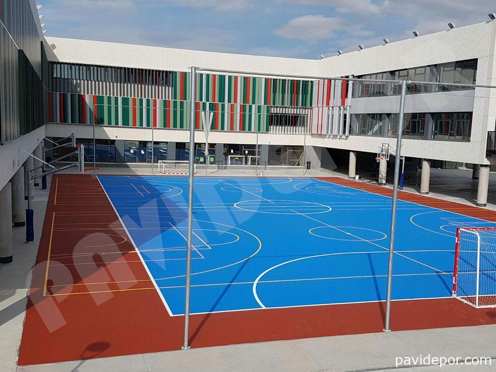 Pavimento deportivo para Pista polideportiva