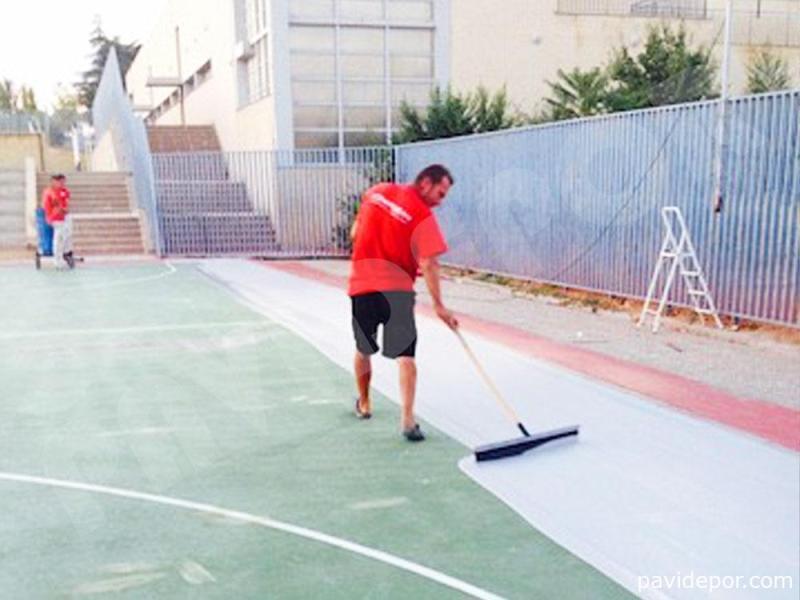 Rehabilitacion pista de baloncesto, Madrid 03