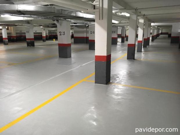 Pavimento parking Madrid