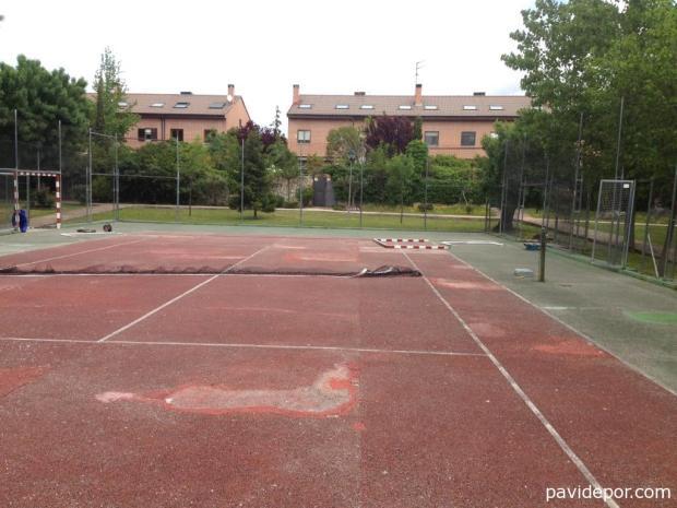 Rehabilitación pista de tenis