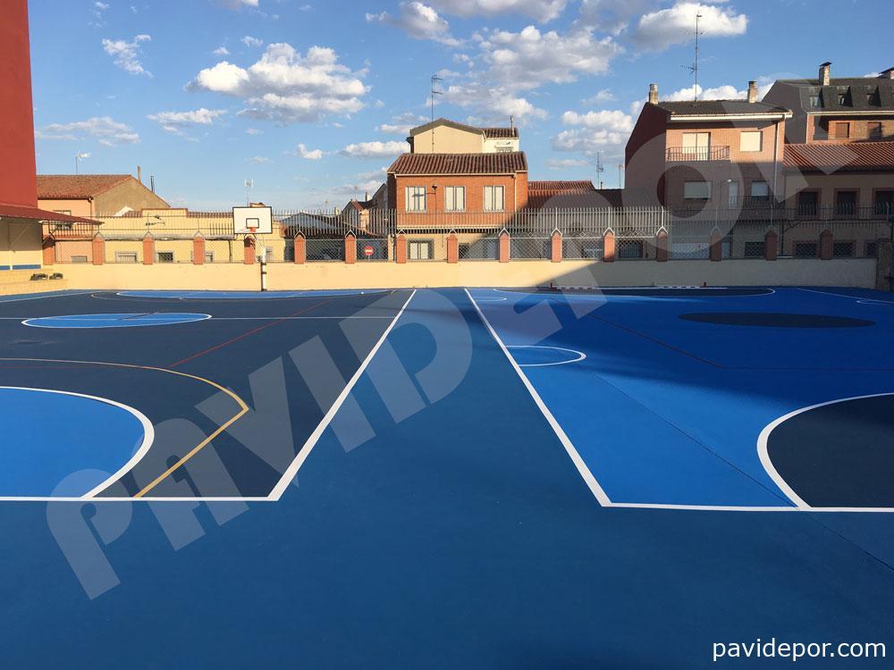 reparación suelo de colegio San Vicente de Paul, de Benavente, Zamora