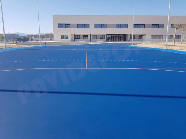 Pavimento deportivo colegio