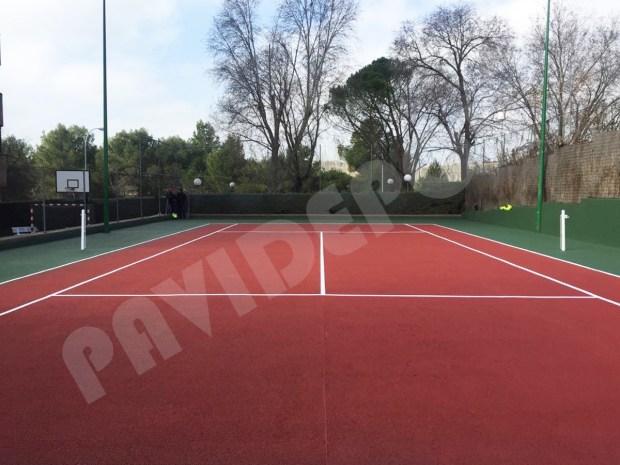 Pintado pista tenis