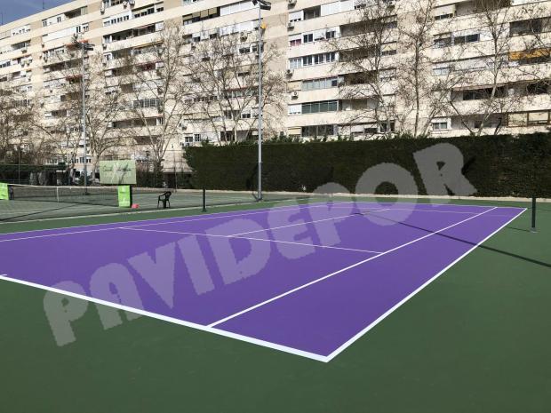 rehabilitación pistas de tenis