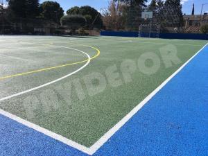 pintado pista deportiva