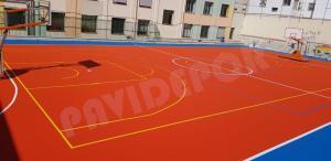 Reparación pista deportiva colegio madrid