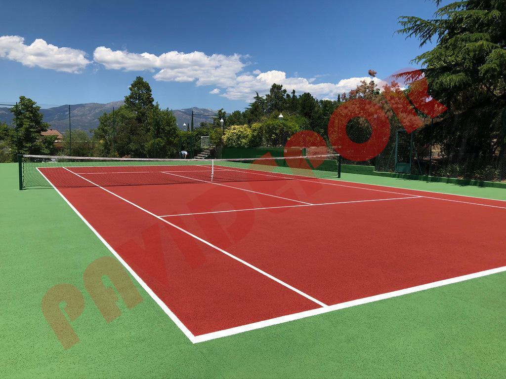 Arreglo pista de tenis madrid
