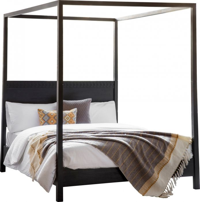 burnsall four poster bed in black