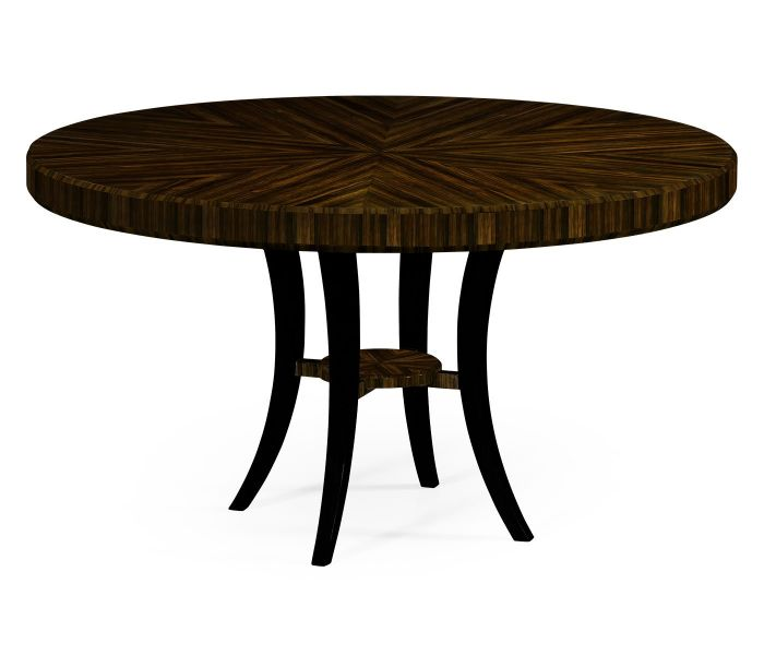 round dining table art deco lustre