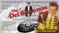 The Del Shannon Show – CANCELLED - CLICK FOR MORE INFO!