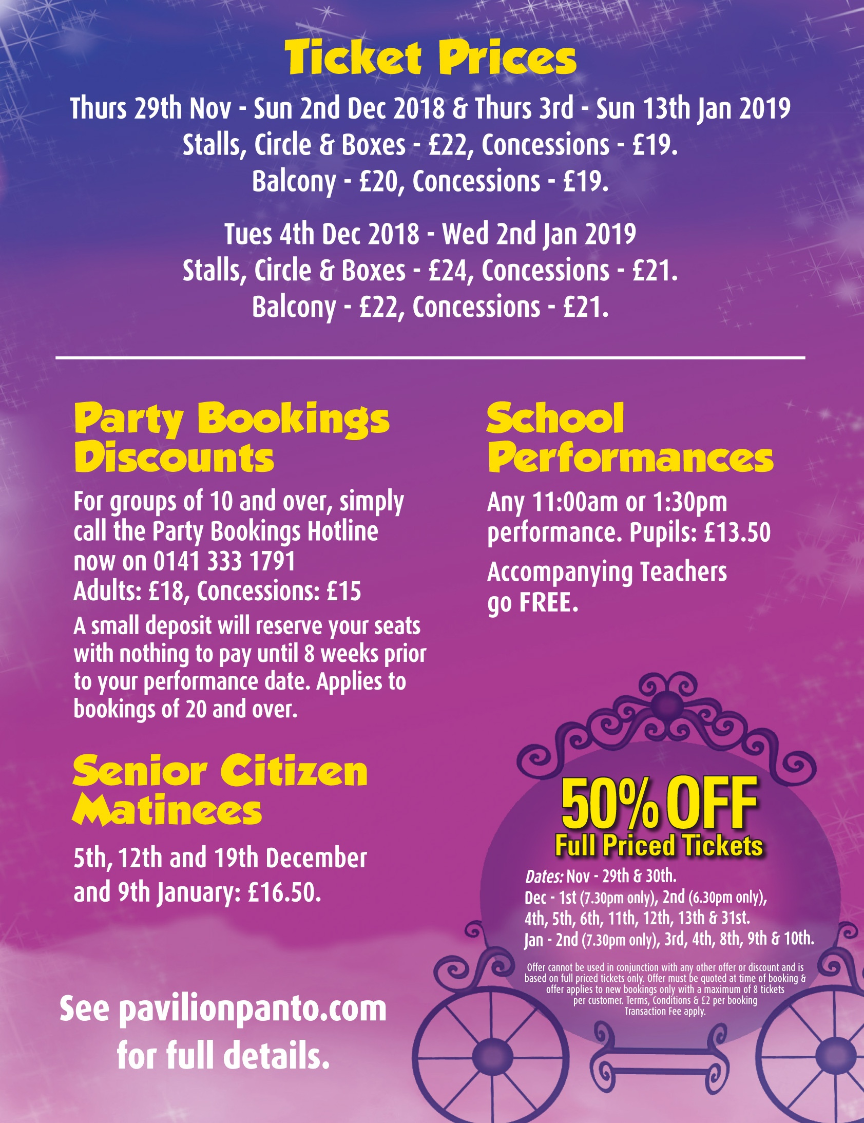 Glasgow Panto Ticket Prices