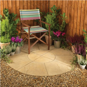 Buy paving slabs in the shape of a circle