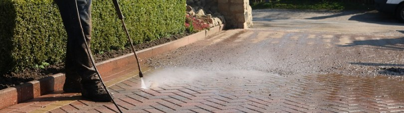 Learn how to use a pressure washer to clean block paving