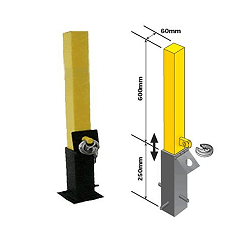Driveway security posts. Removable post.
