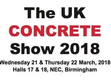 Visit The UK Concrete Show 2018 in Birmingham