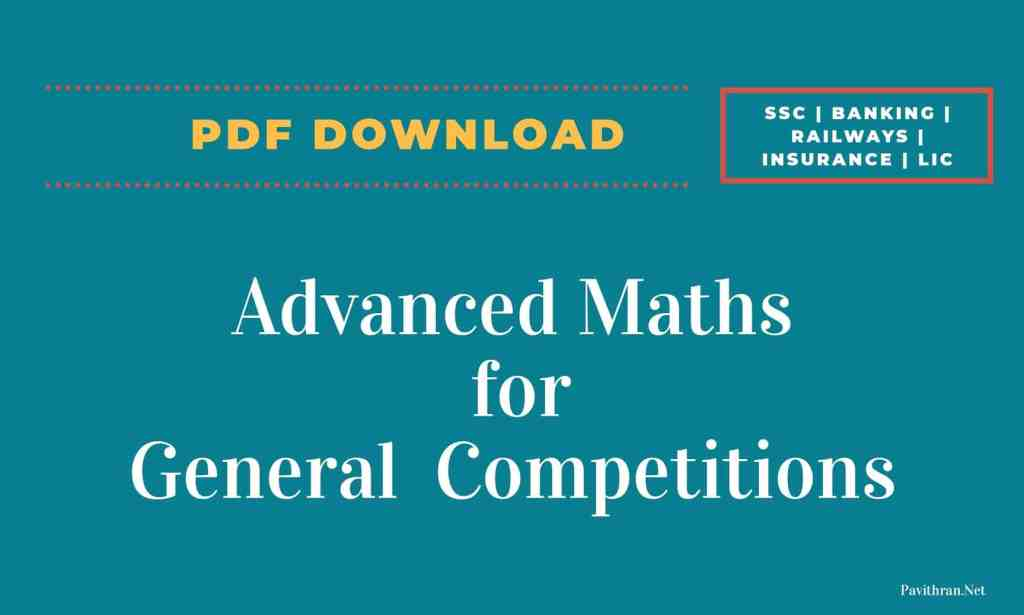 Advanced Maths for General Competitions