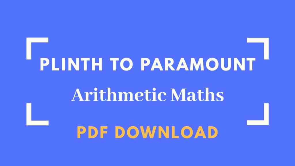 Plinth to Paramount Arithmetic Maths Book PDF Download