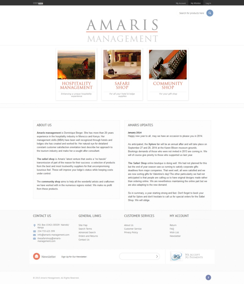 Shopping Cart of Amaris Management - Successfully Delivered Projects On-Time and On-Budget. Improved Website Conversation Rate By 80% Against Existing Control.