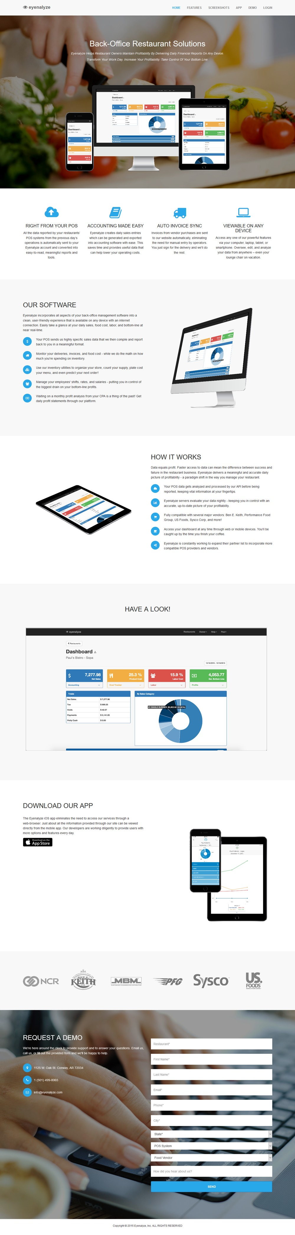 Eyenalyze - Successfully Delivered Projects On-Time and On-Budget. Improved Website Conversation Rate By 80% Against Existing Control.