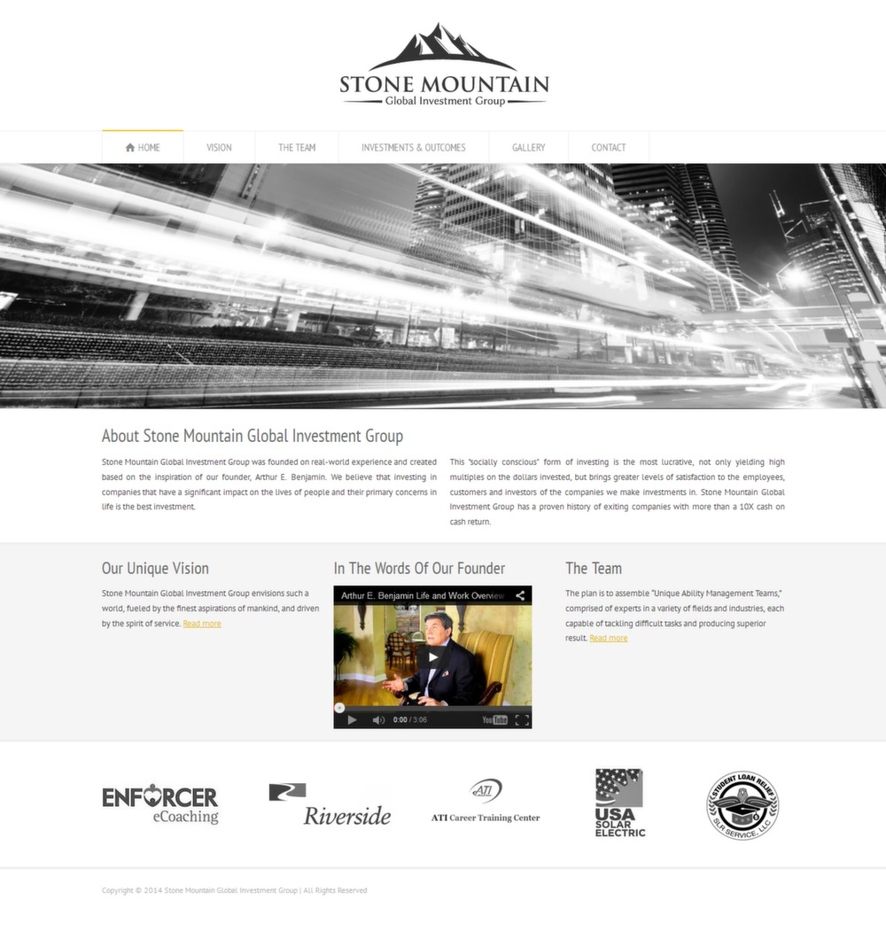 Stone Mountain Global Investment Group - Successfully Delivered Projects On-Time and On-Budget. Improved Website Conversation Rate By 80% Against Existing Control.