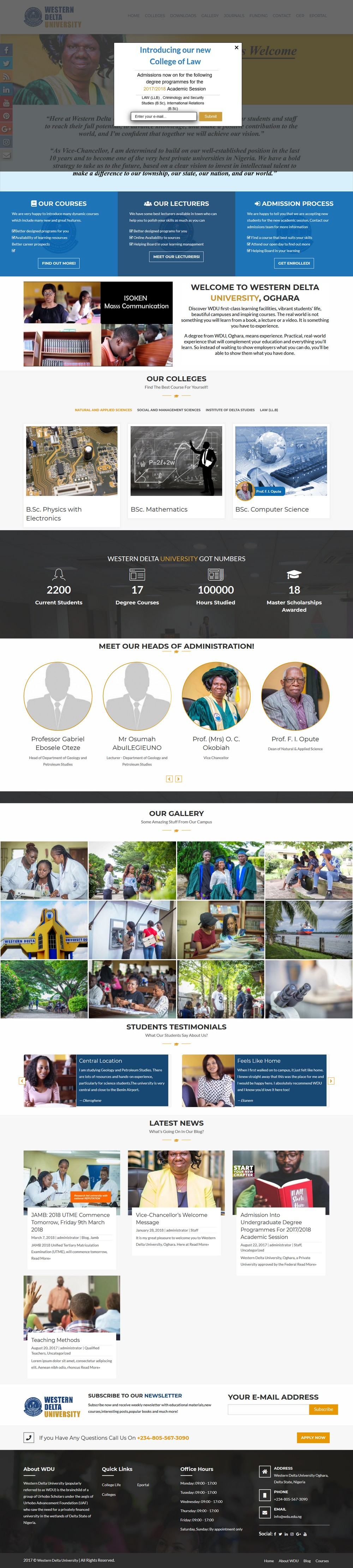 Western Delta University - Successfully Delivered Projects On-Time and On-Budget. Improved Website Conversation Rate By 80% Against Existing Control.