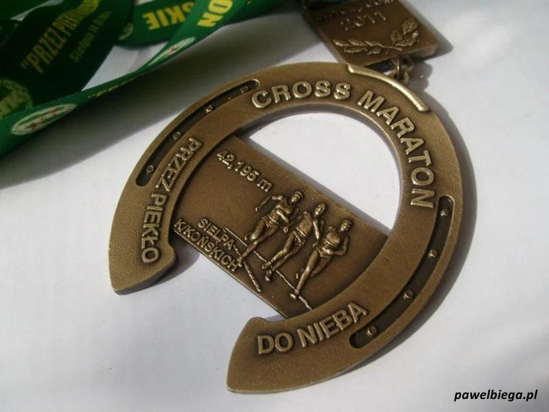 """VI Cross Maraton """"Przez Piekło do Nieba"""" - medal"""