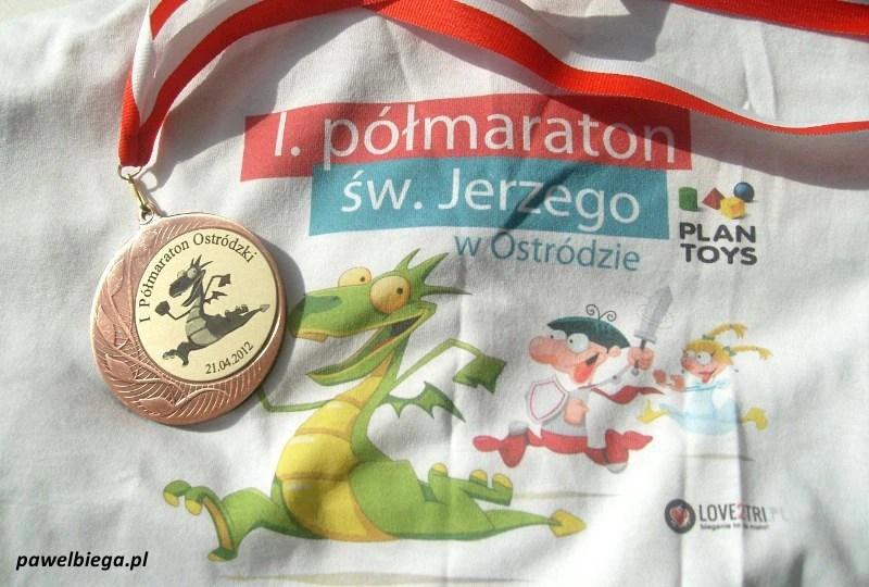 I Półmaraton Ostrodzki - koszulka i medal