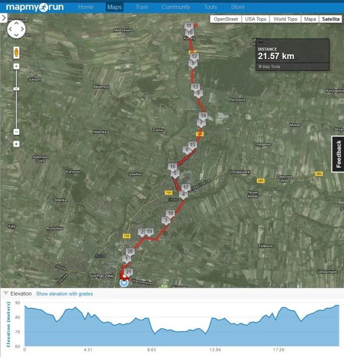 XXIX Połmaraton Sochaczew - trasa