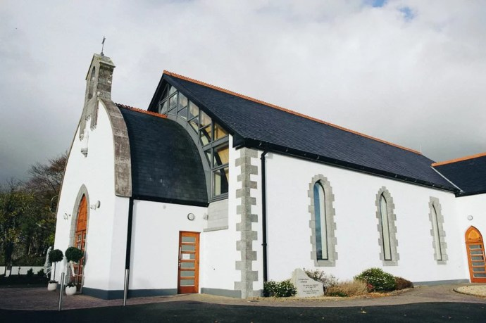 Christening of little Vincent in Ballisodare Saint Bridget's Church