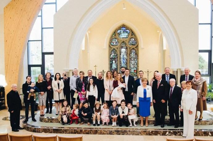 Christening of little Vincent in Ballisodare Saint Bridget's Church.