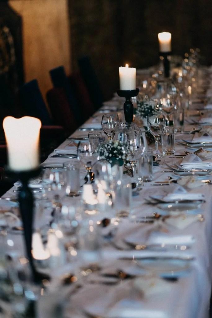 dining room in Belleek Castle