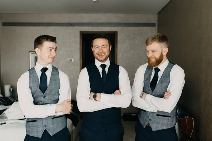 groom's getting ready in the g hotel galway