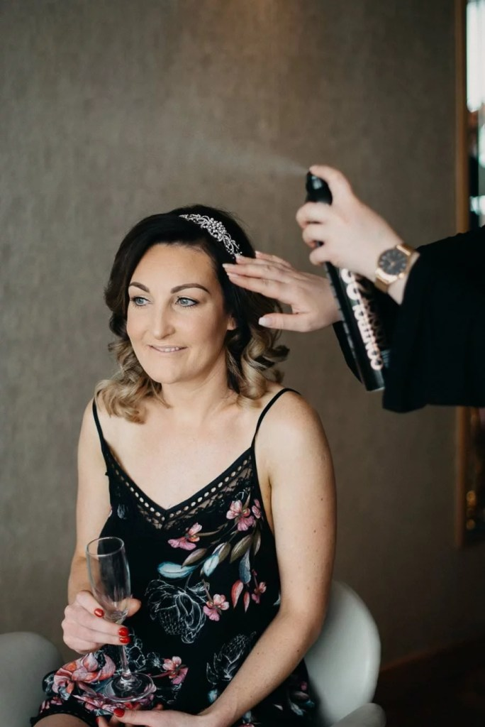 bride's getting ready in the g hotel galway