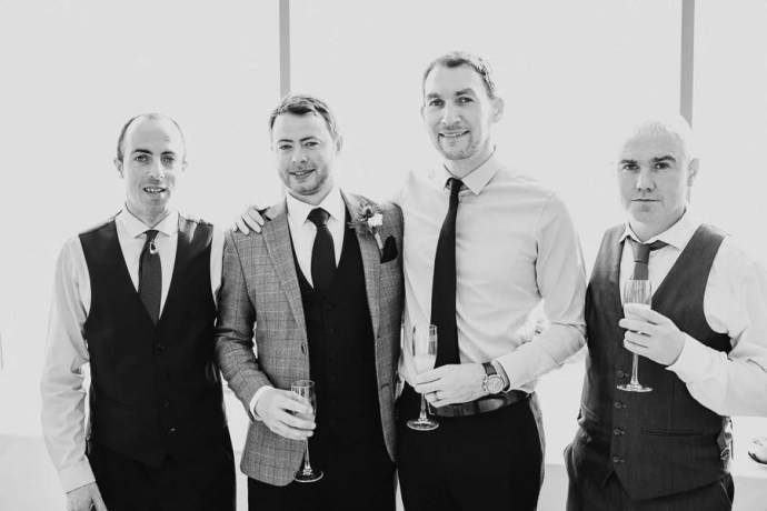 wedding party in the g hotel galway