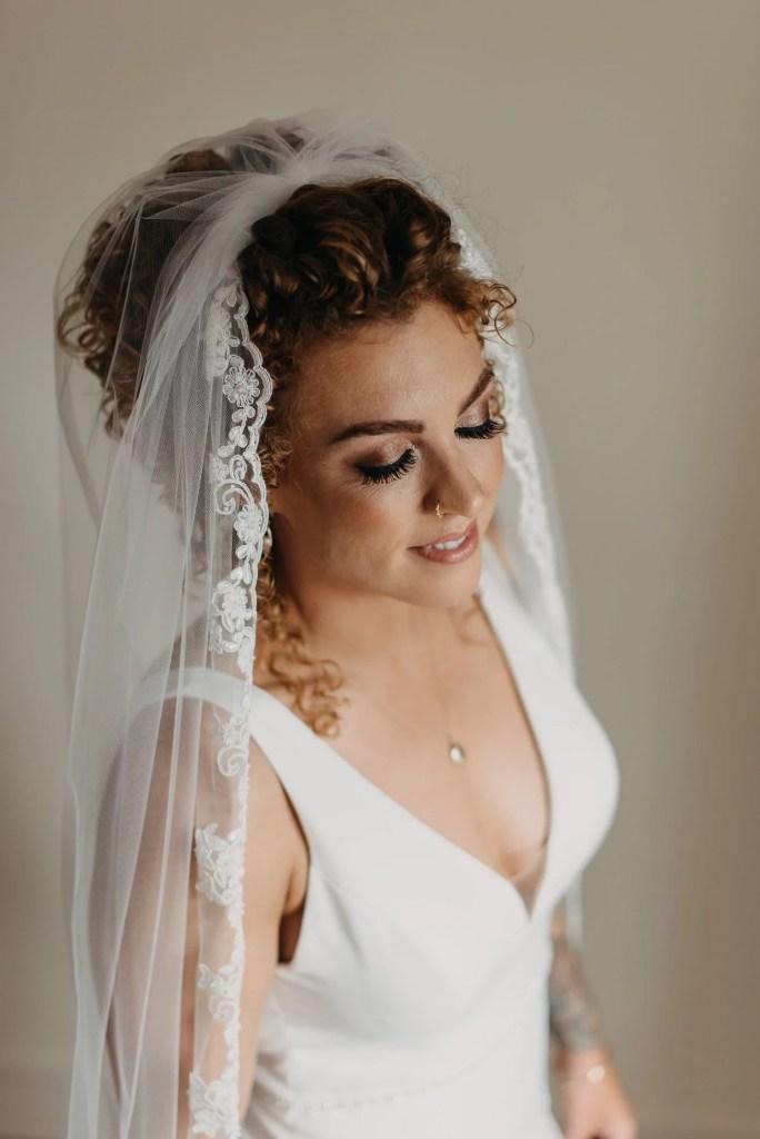 portrait of bride at castle dargan sligo