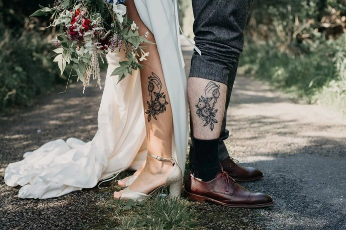 tattoos of bride and groom